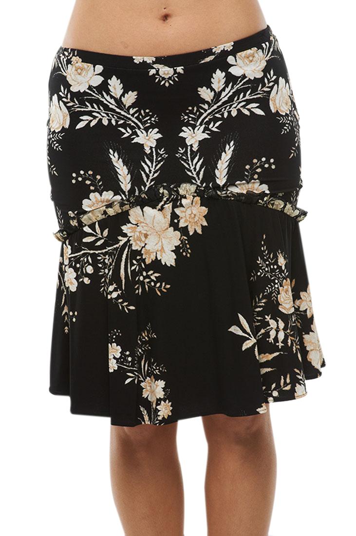 Roberto Cavalli Skirt Flower Print