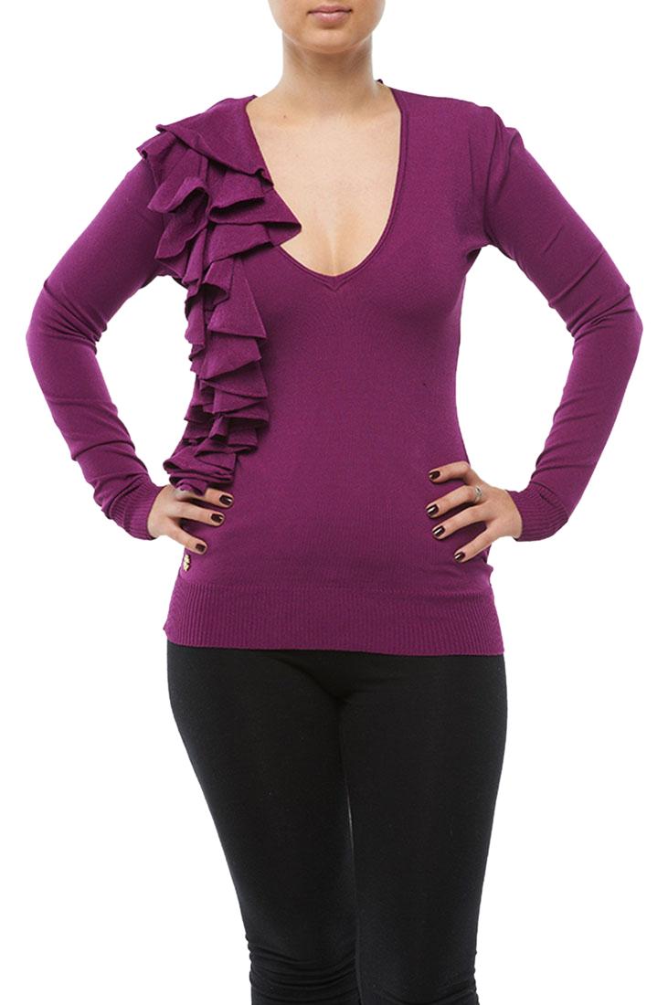 Roberto Cavalli Top Blouse Shirt Purple