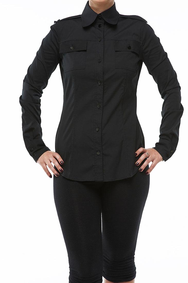 Roberto Cavalli Women's Button Down Shirt Black