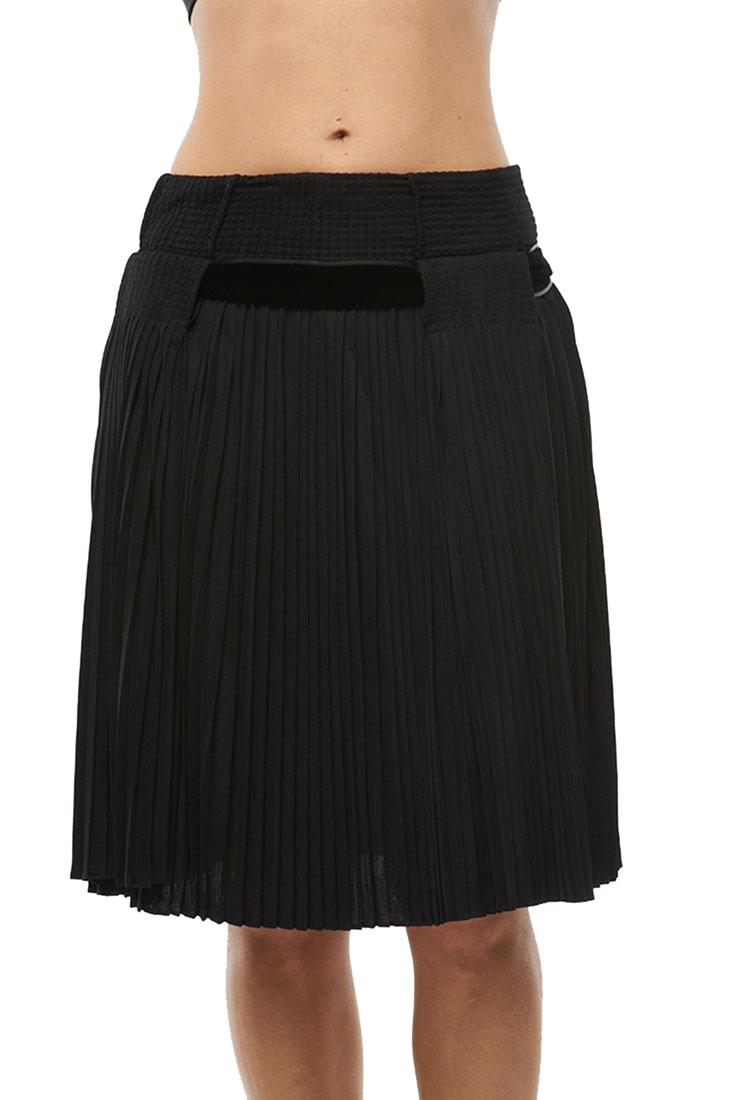 Roberto Cavalli Sheer Pleated Skirt Black