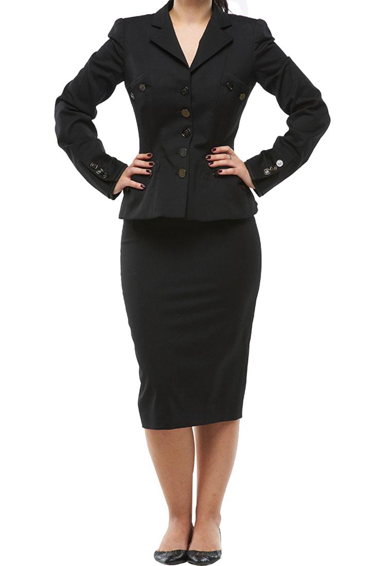 Roberto Cavalli Women's Suit Skirt Black Wool