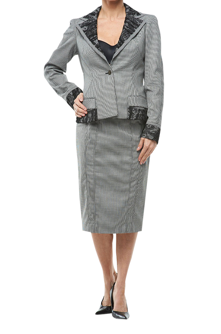 Roberto Cavalli Women's Suit One Button Grey