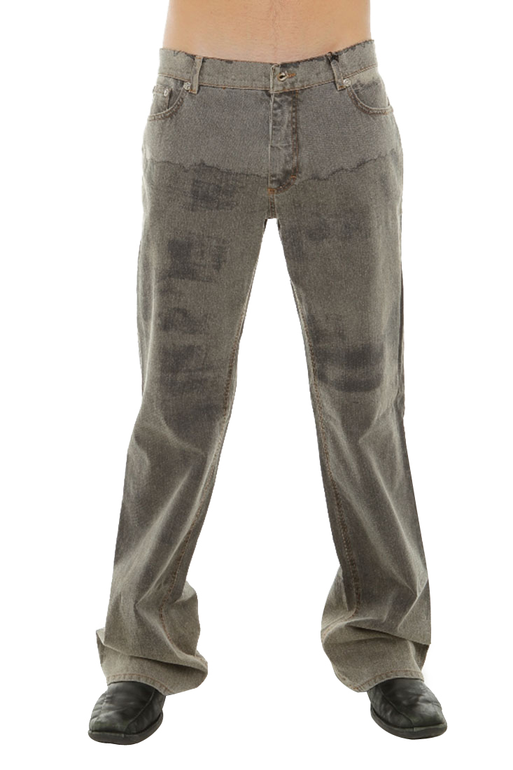 Roberto Cavalli Gray Cotton Jeans