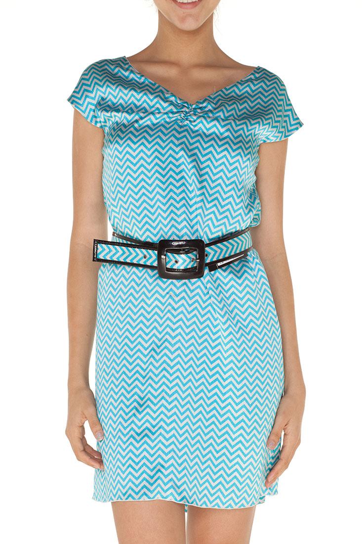 Emporio Armani BLUE Polyester Knee Length Dress