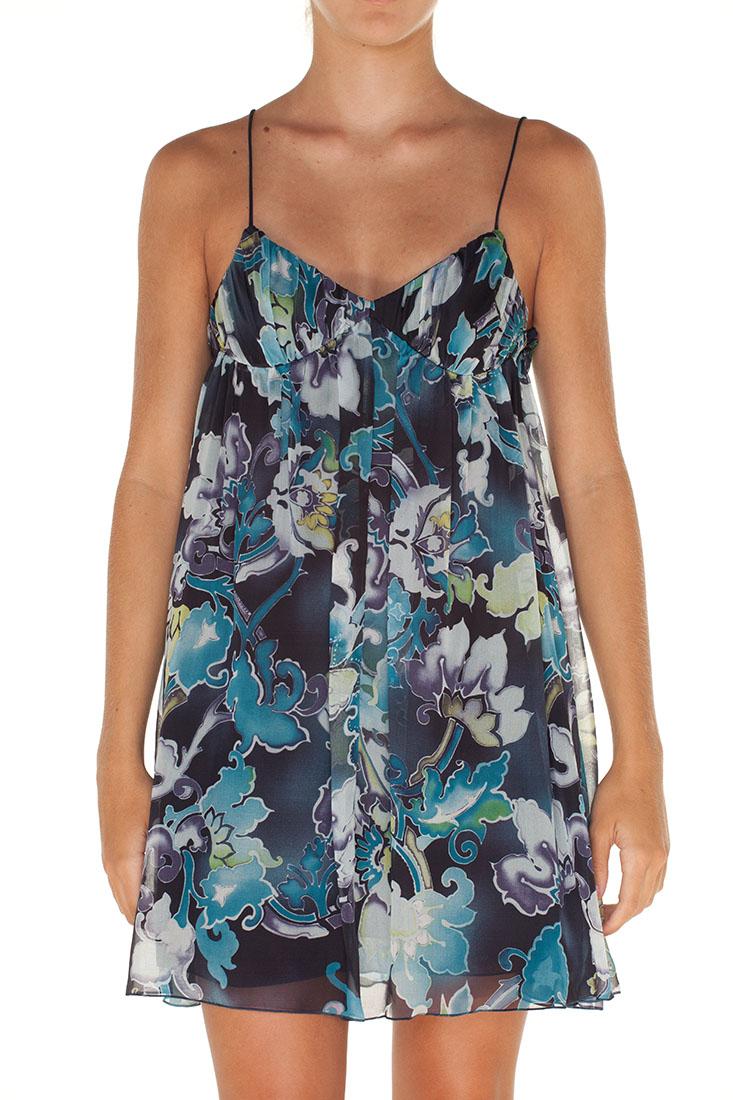 Emporio Armani BLUE Silk Short Dress