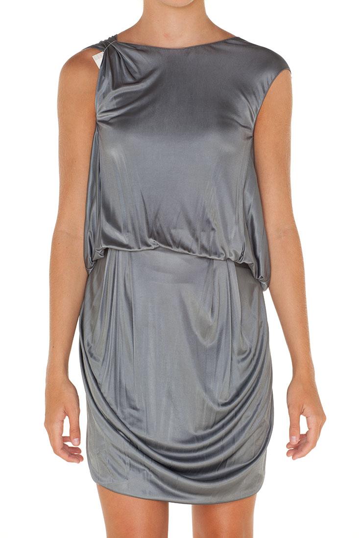 Emporio Armani Grey Viscose Long Dress