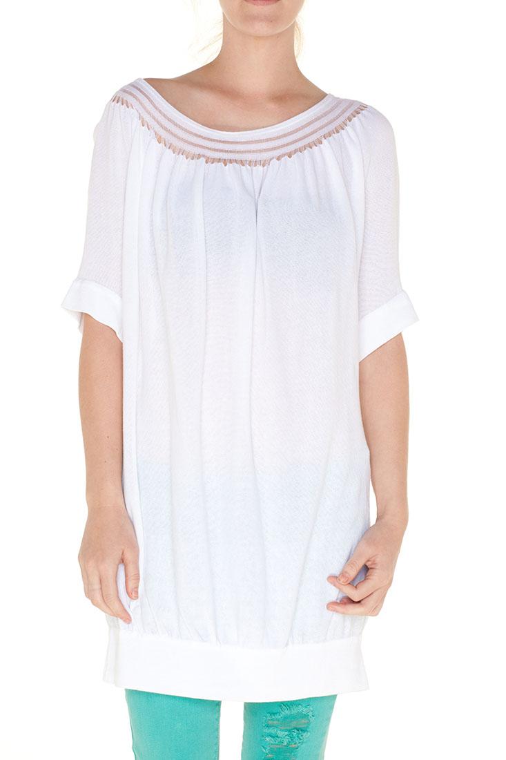 Emporio Armani WHITE Cotton Short Dress