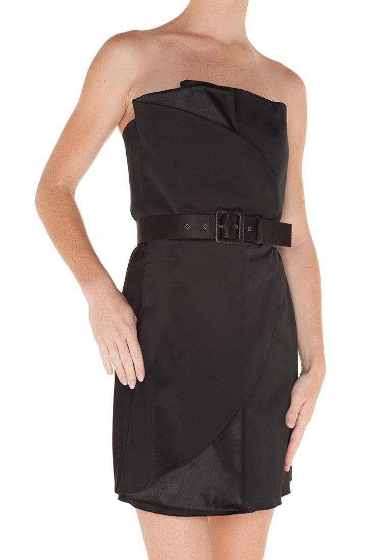 Emporio Armani BLACK Rayon Short Dress