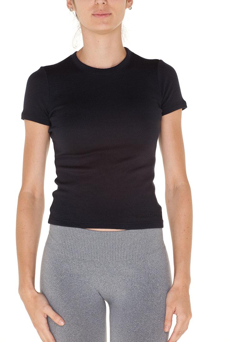 Giorgio Armani BLACK Cashmere Short Sleeve Top Blouse