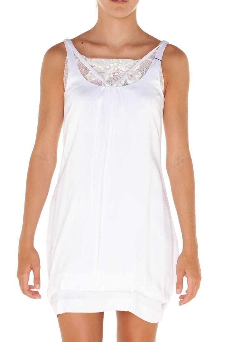 Emporio Armani WHITE Acetate Short Dress