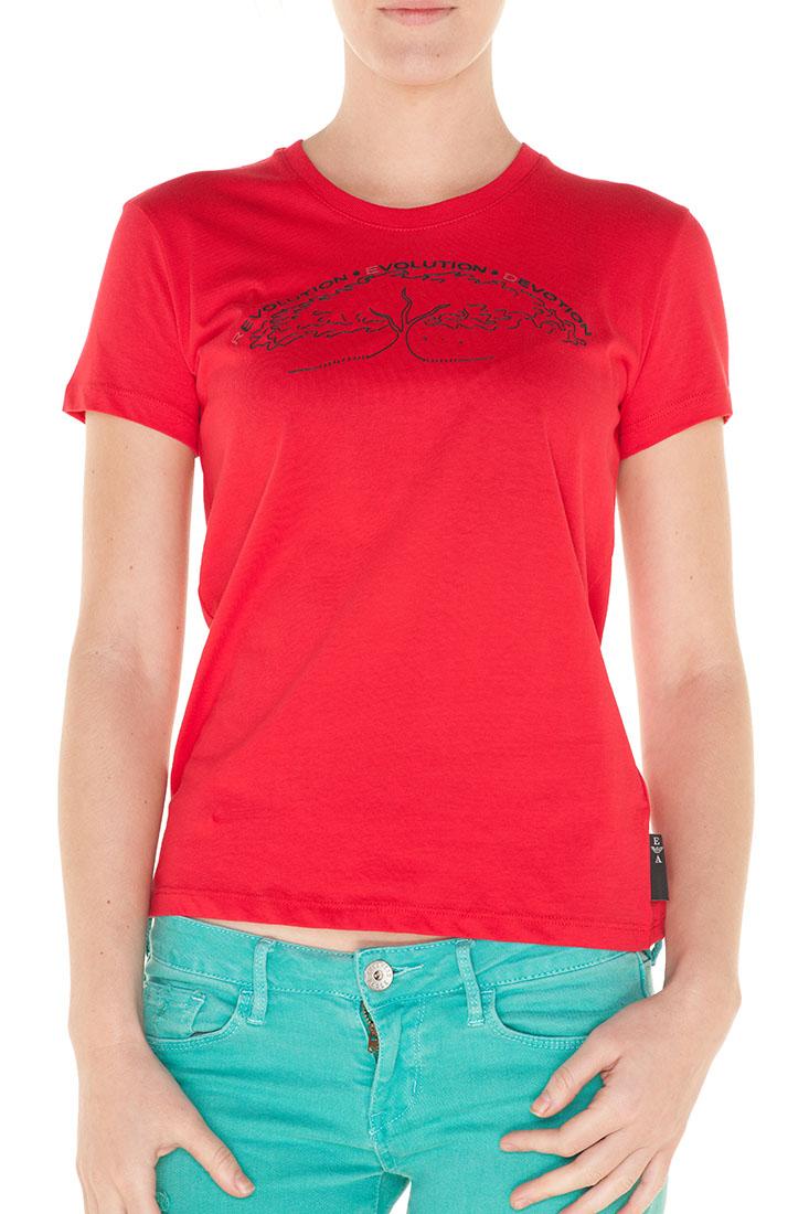 Emporio Armani RED Cotton Short Sleeve Top Blouse