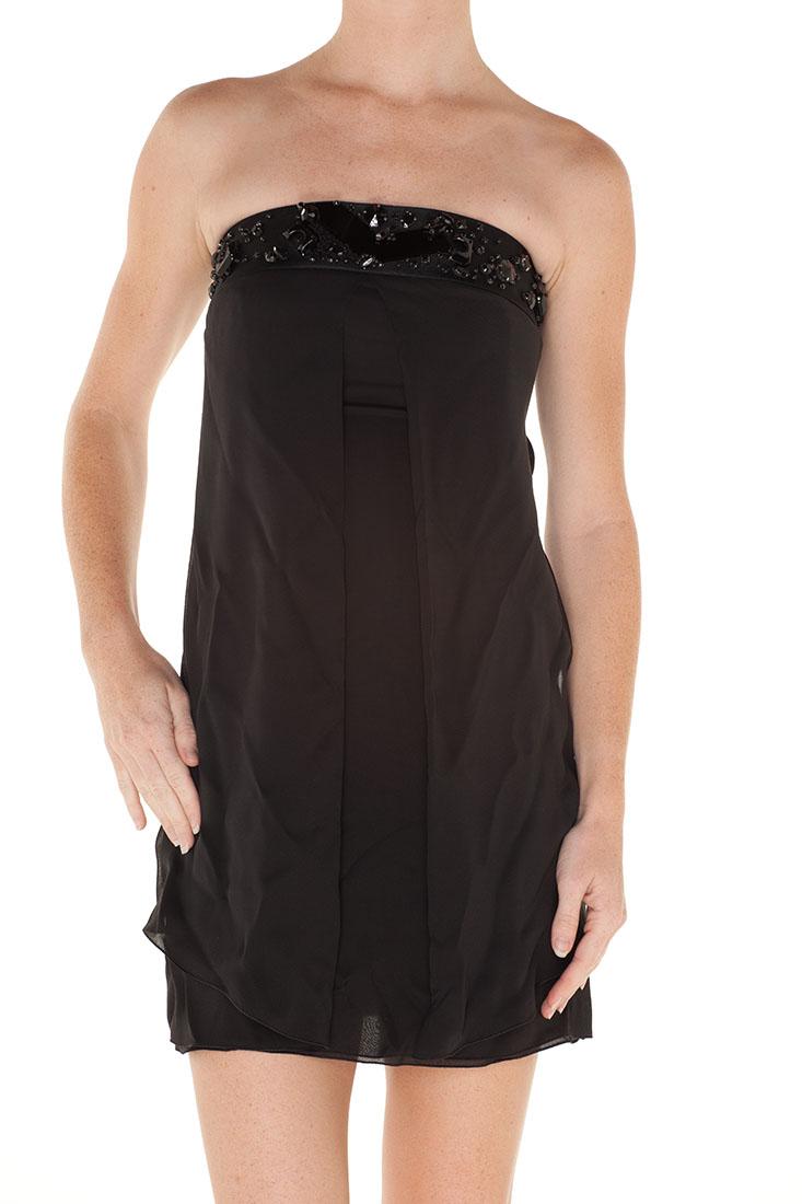 Emporio Armani BLACK Silk Short Dress