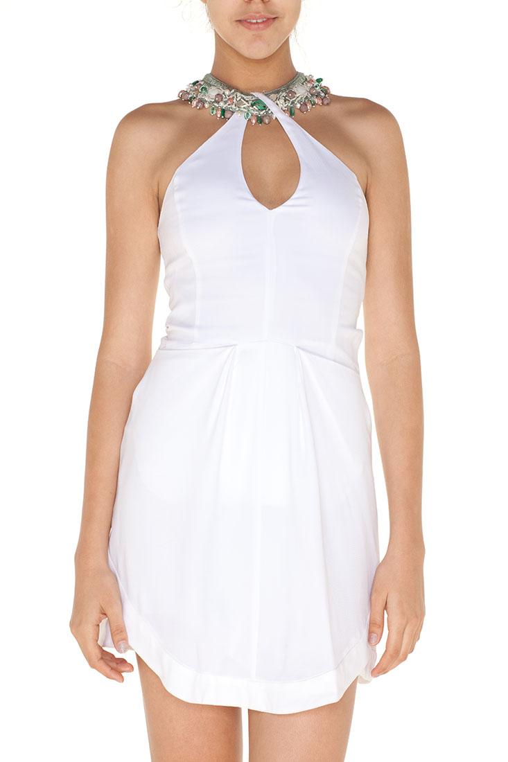 Emporio Armani WHITE Viscose Short Dress