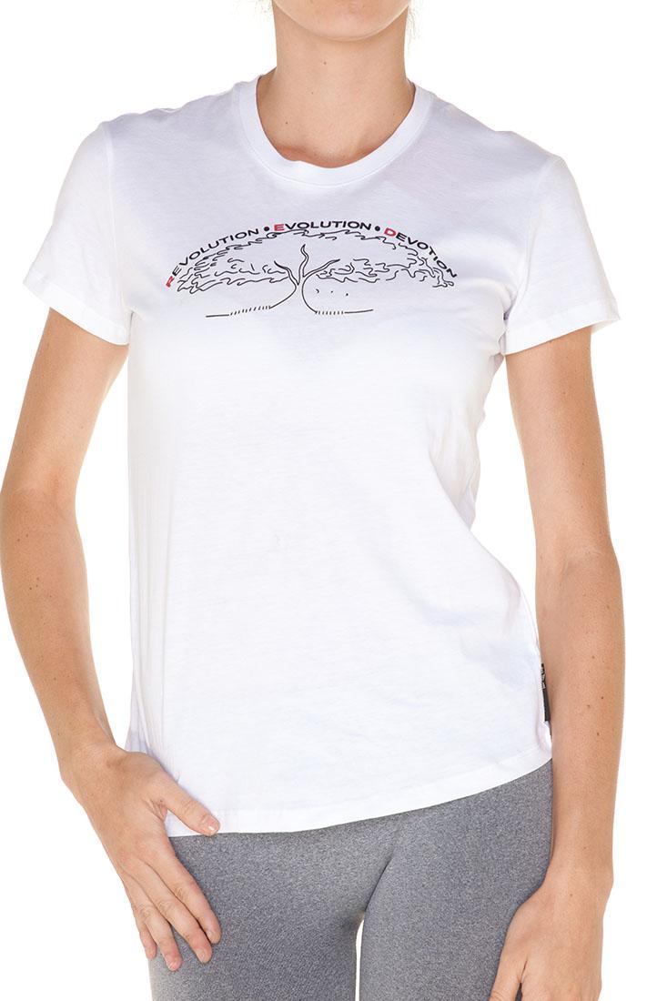 Emporio Armani WHITE Cotton Short Sleeve Top Blouse