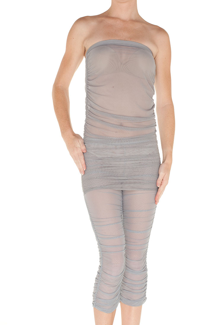 Emporio Armani Grey Polyamid Swimsuit Cover Up