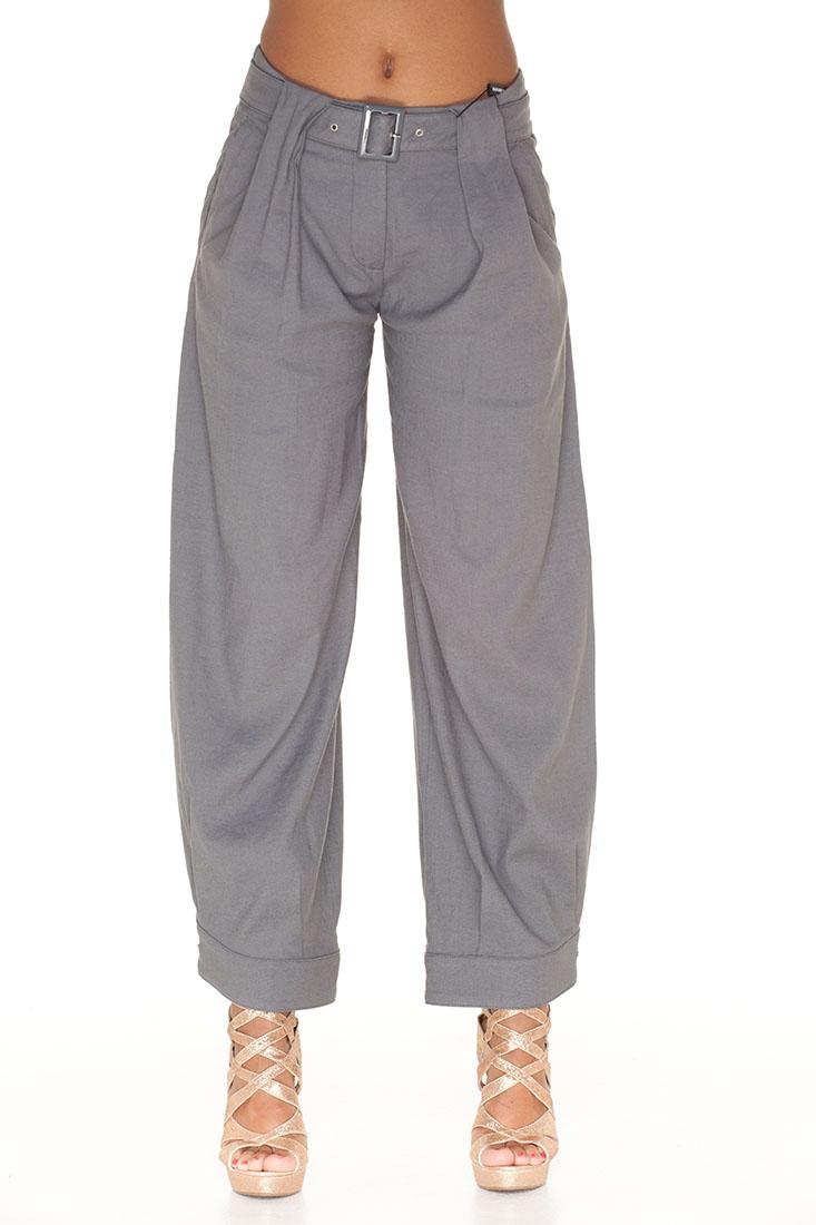 Emporio Armani Grey Flax Pants Trousers