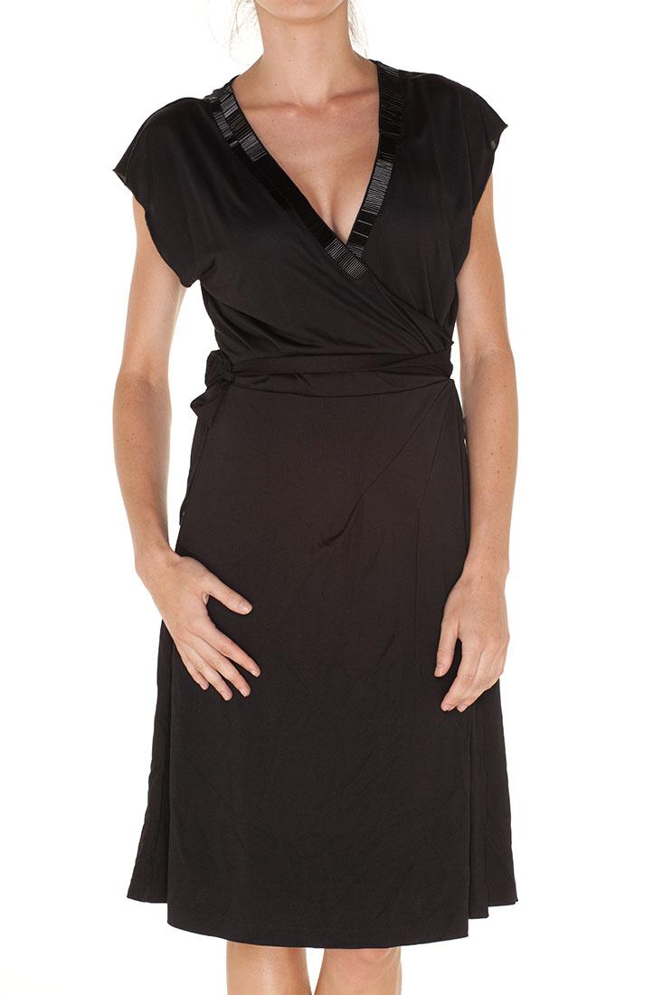 Emporio Armani BLACK Silk Long Dress
