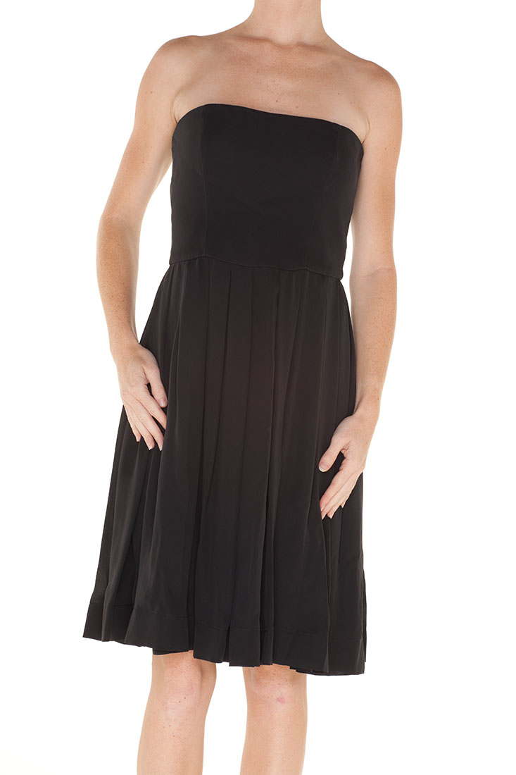 Armani Collezioni BLACK Silk Knee Length Dress