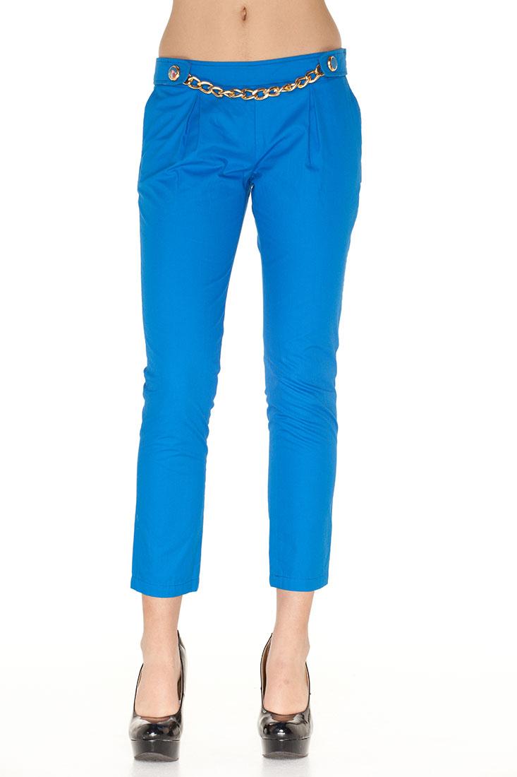 DG Blue Cotton Pants Trousers