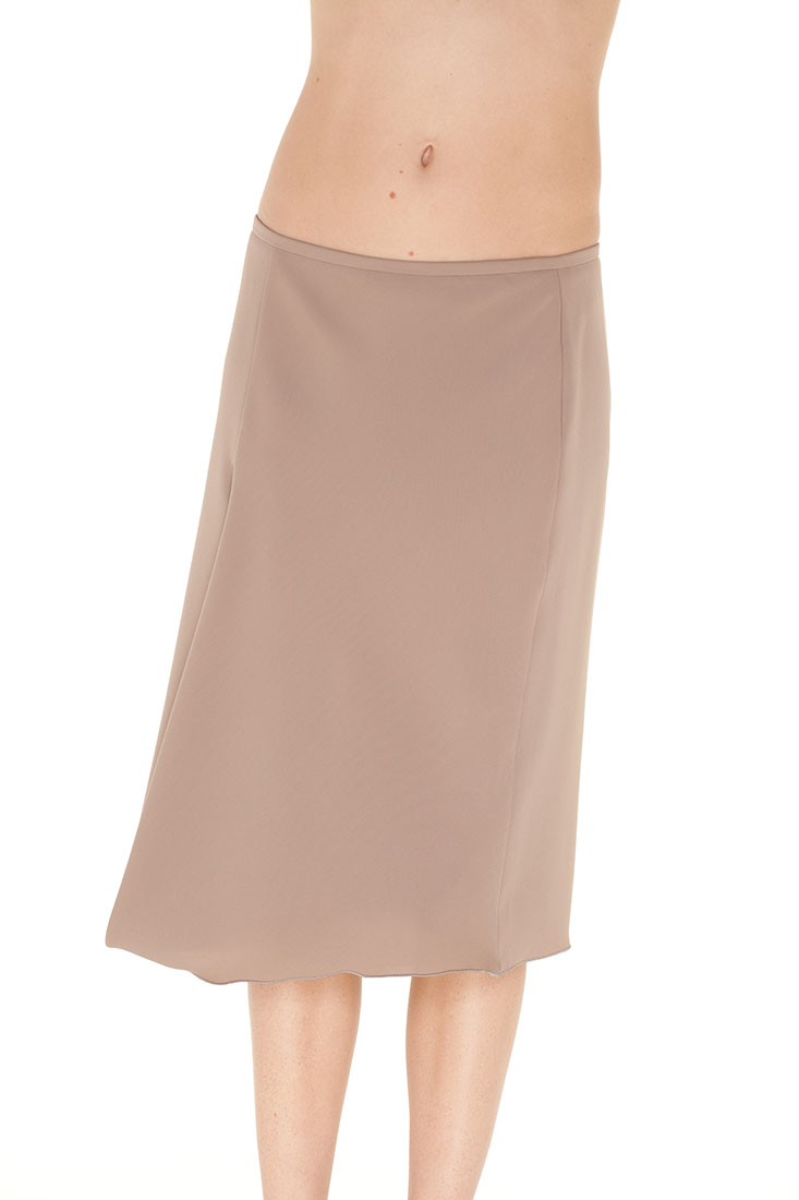 Armani Collezioni Brown Polyester Knee Length Skirt