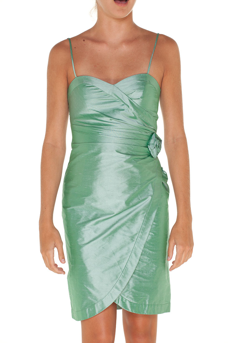 Armani Collezioni GREEN Silk Short Dress