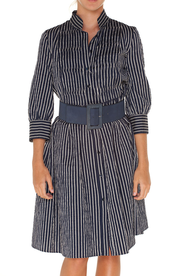 Armani Collezioni BLUE Cotton Knee Length Dress