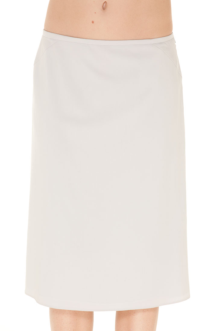 Armani Collezioni Grey Wool Knee Length Skirt