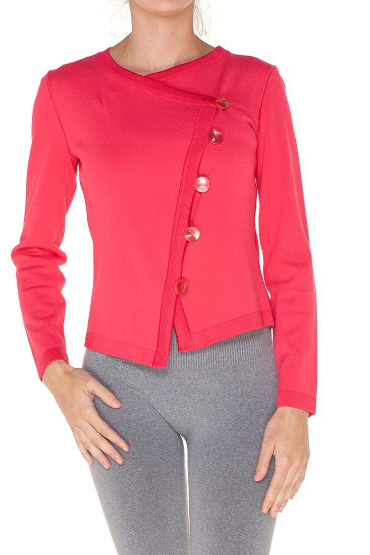 Armani Collezioni Red Viscose Jacket
