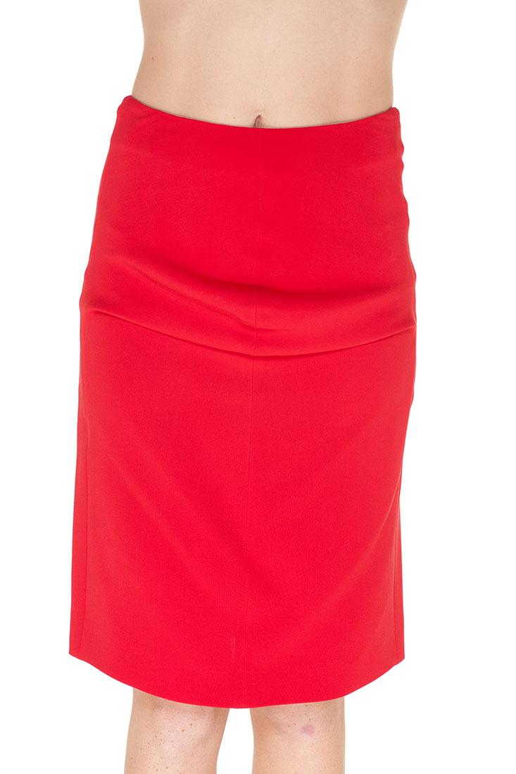 Giorgio Armani RED Silk Knee Length Skirt