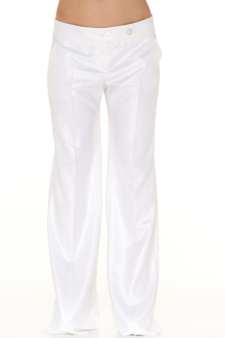 Emporio Armani WHITE Polyester Pants Trousers