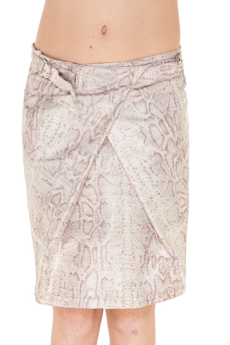 Emporio Armani BEIGE Viscose Knee Length Skirt