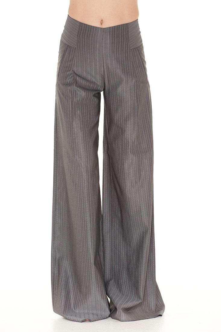 Emporio Armani Grey Virgin Wool Pants Trousers