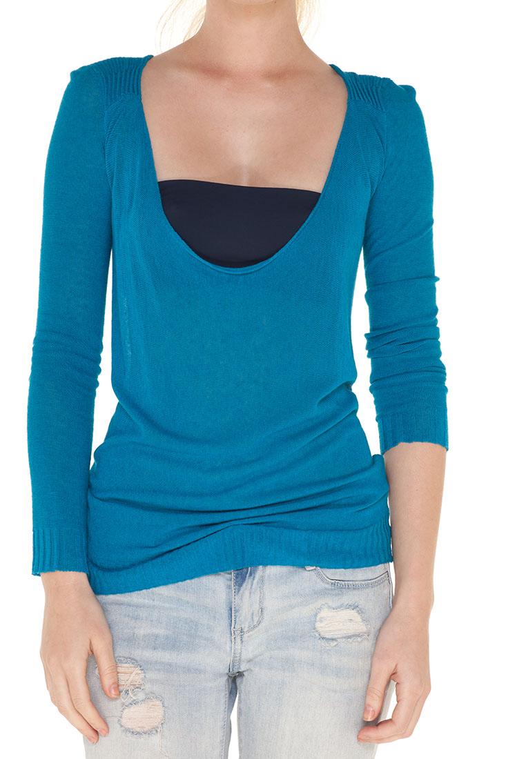 Emporio Armani BLUE Viscose Sweater