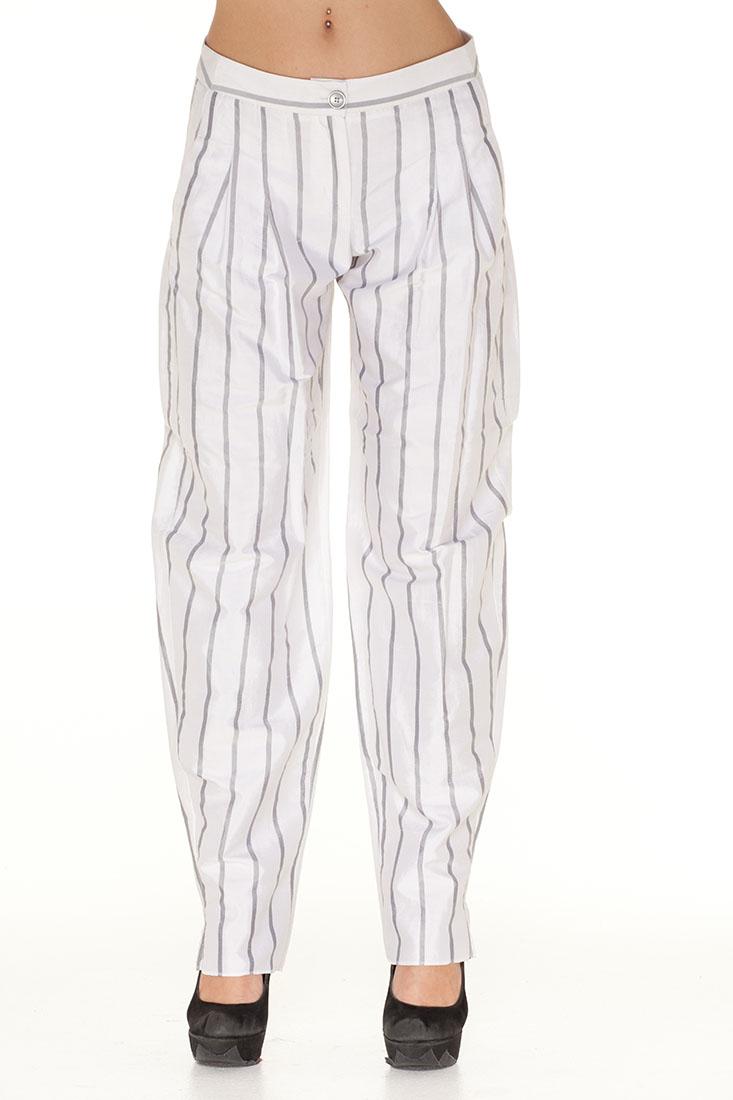 Emporio Armani WHITE Silk Pants Trouser