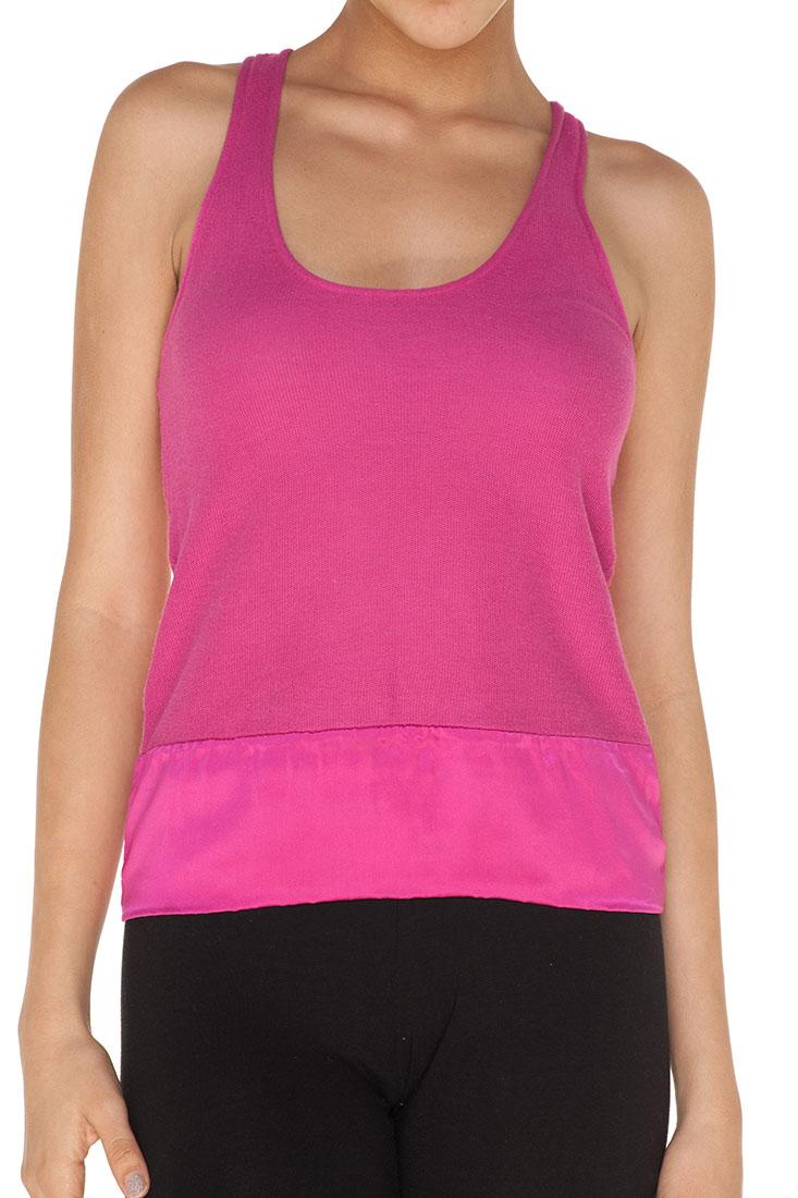 Emporio Armani PINK Cotton Sleeveless Top Blouse