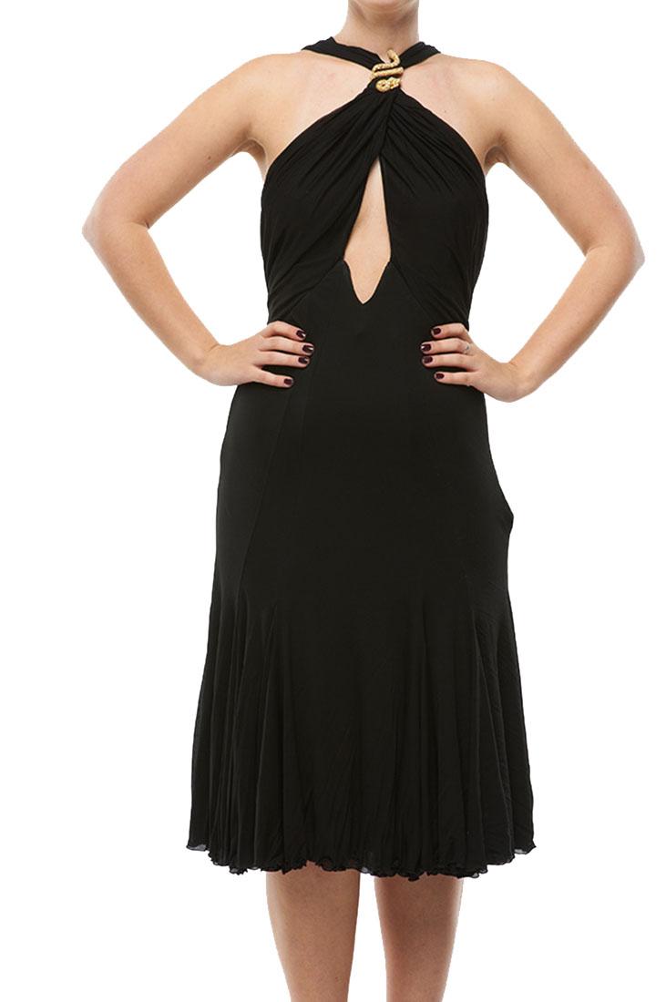 Roberto Cavalli Open Back Dress Black
