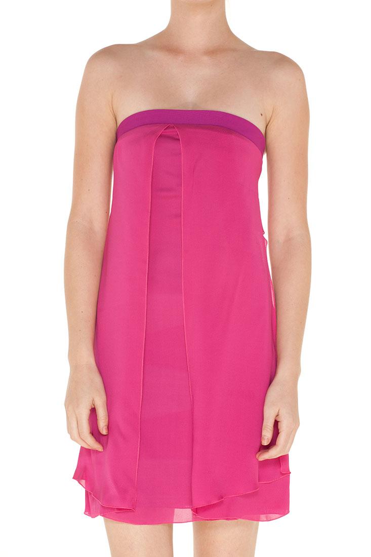 Emporio Armani PURPLE Silk Short Dres