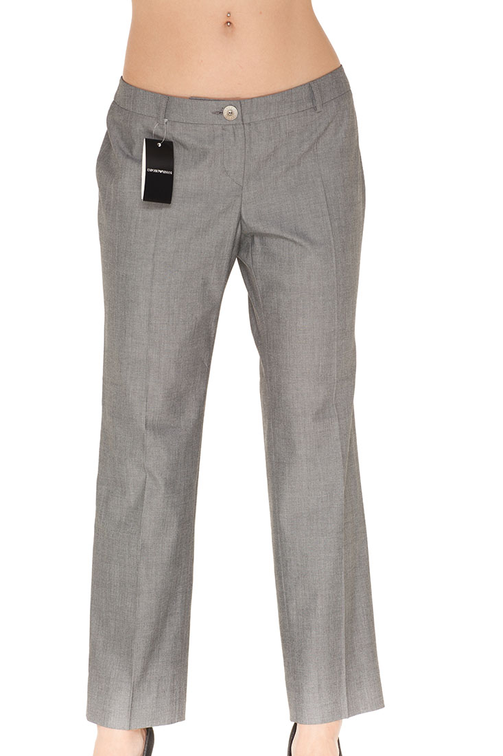 Emporio Armani Grey Polyester Pants Trousers