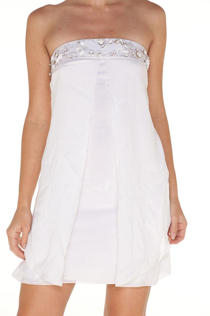 Emporio Armani WHITE Silk Short Dress
