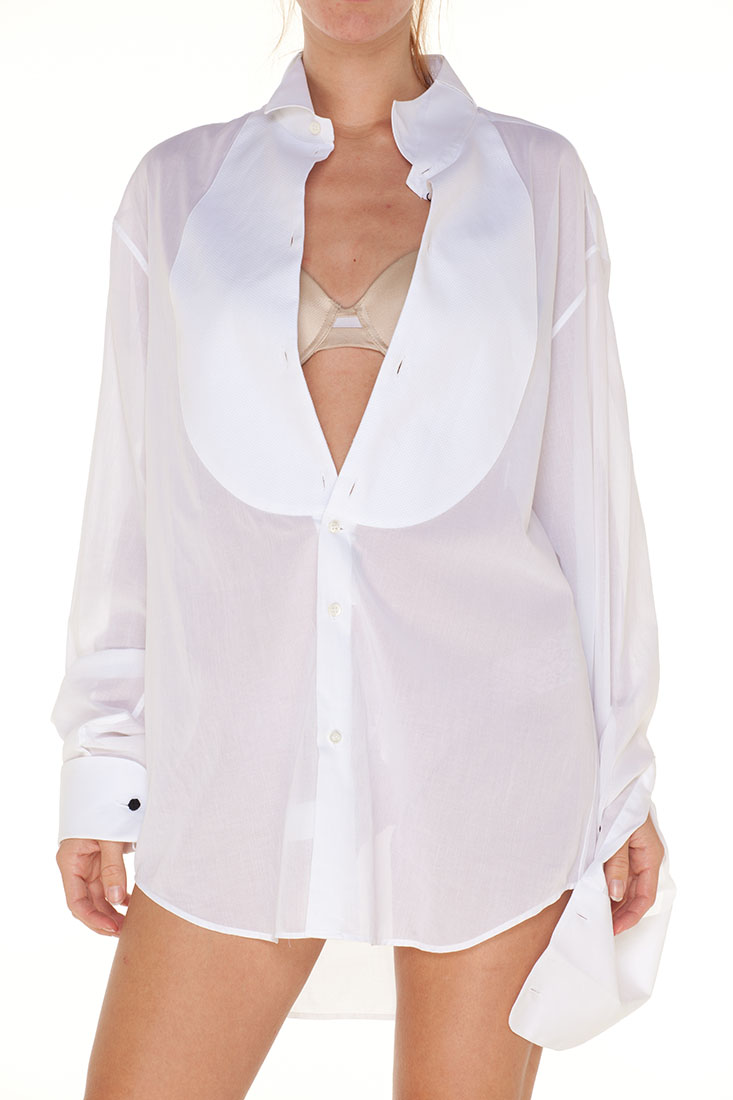 Emporio Armani WHITE Cotton Dress Shirt