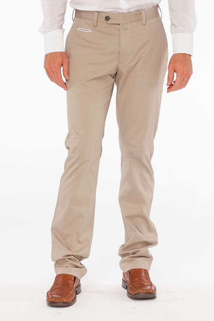 Emporio Armani BEIGE Cotton Pants Trousers