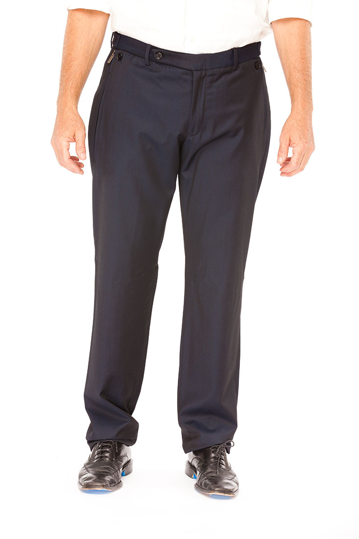 Armani Collezioni BLUE Virgin Wool Pants Trousers