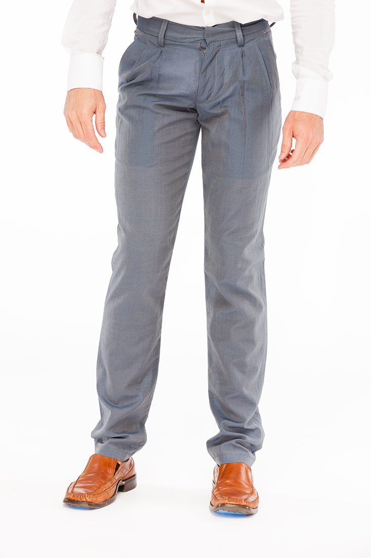 Emporio Armani BLUE Cotton Pants Trousers