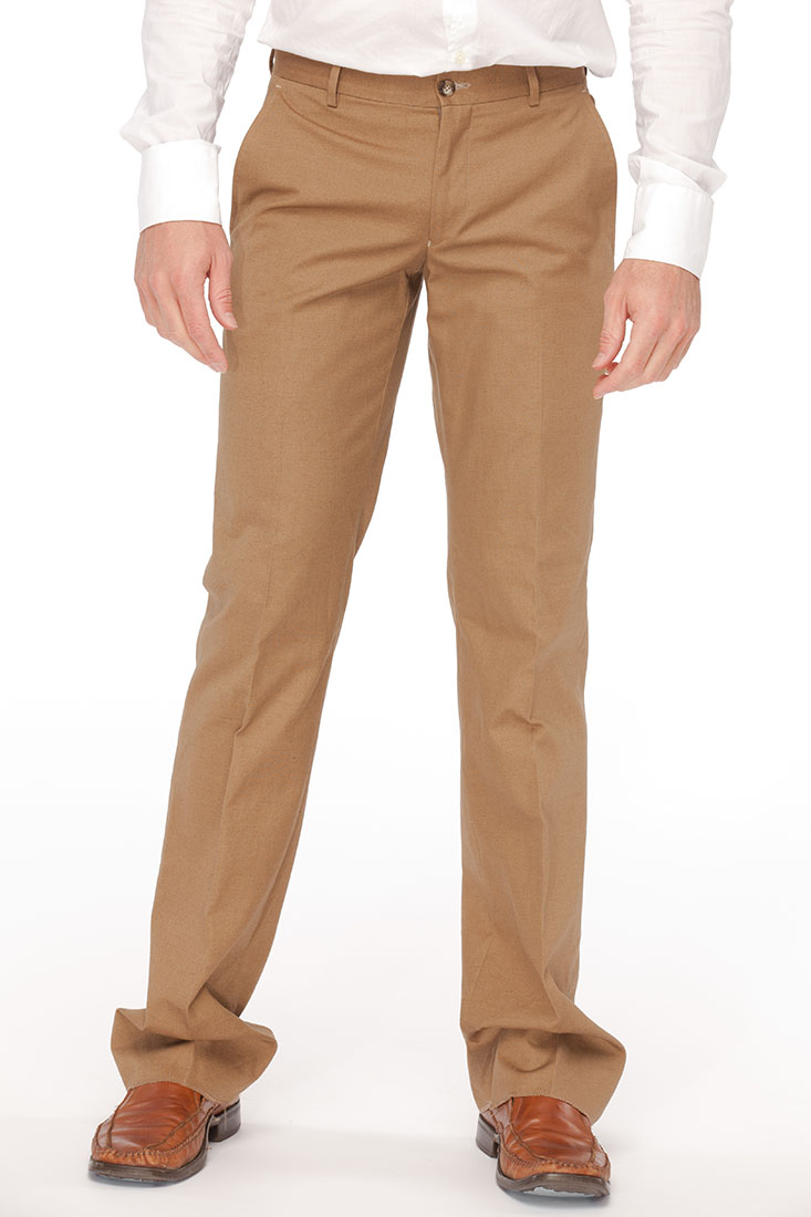 Emporio Armani BROWN Cotton Pants Trouser