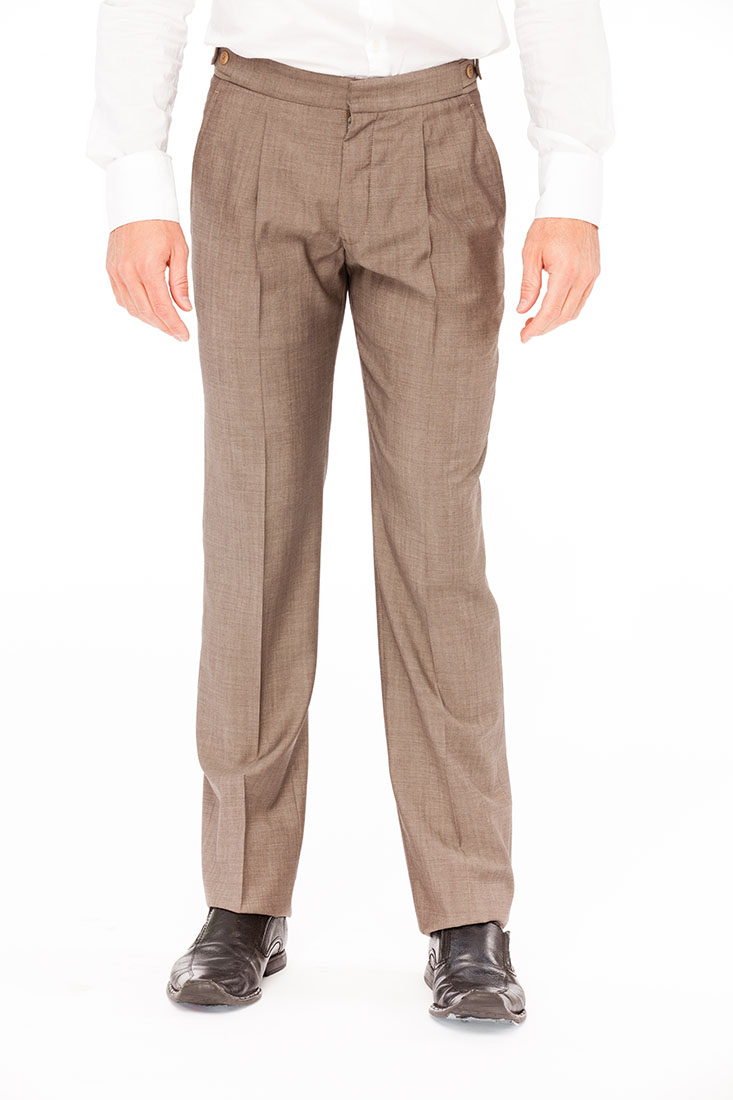 Armani Collezioni BROWN Wool Pants Trousers