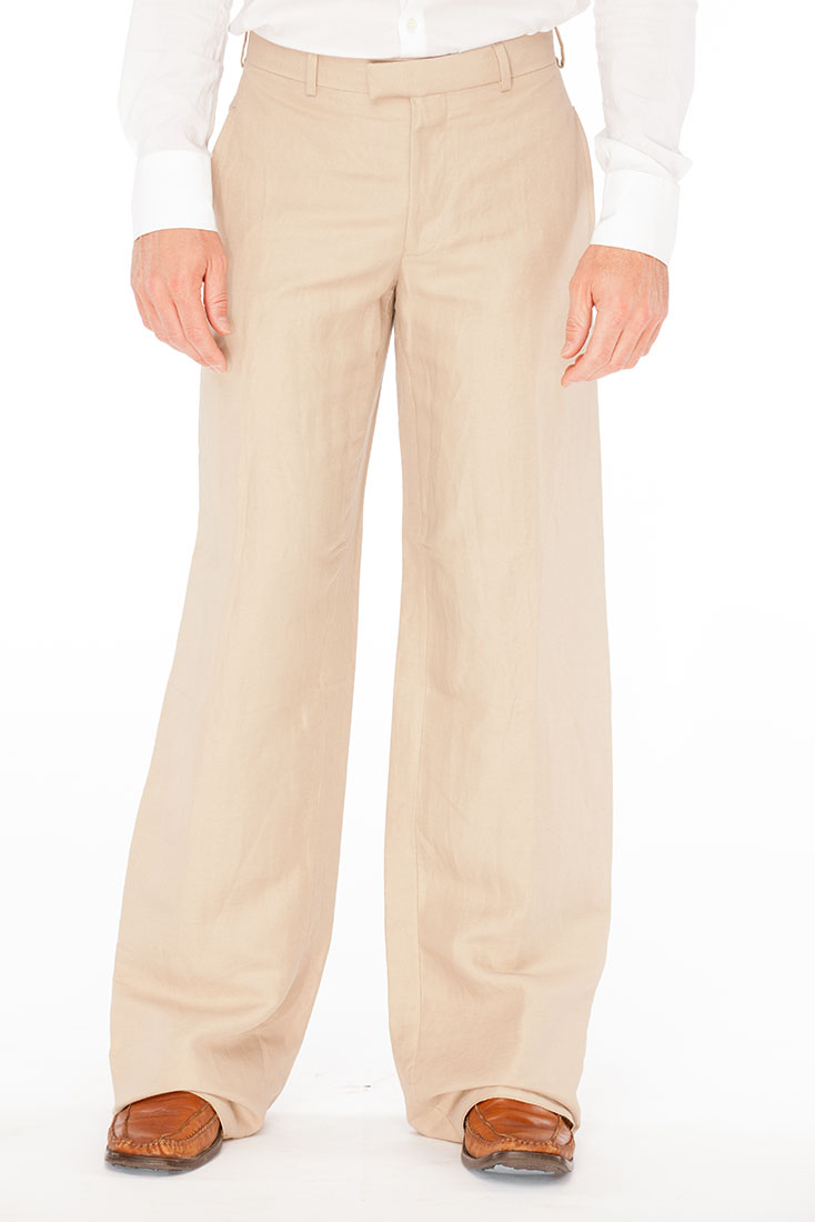 Emporio Armani BROWN Flax Pants Trouser