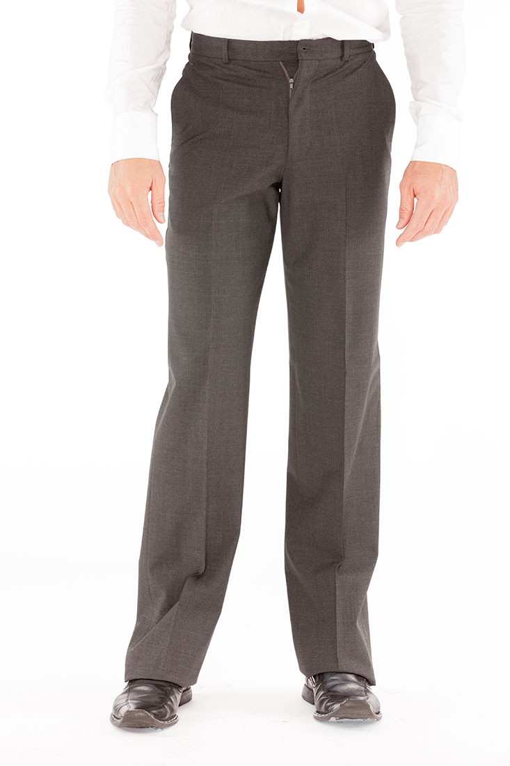 Armani Collezioni Grey Wool Pants Trousers