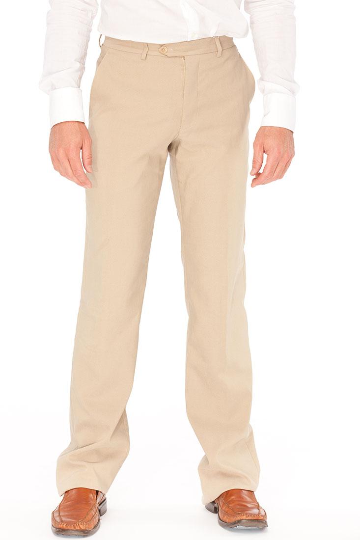 Armani Collezioni BEIGE Linen Pants Trousers