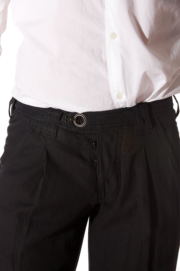 Emporio Armani BLACK Cotton Pants Trousers
