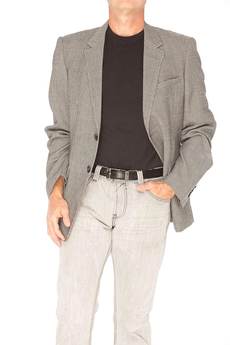 Emporio Armani Grey Virgin Wool Jacket Coat